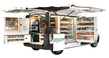 hedleys sandwich van delivery Gloucester