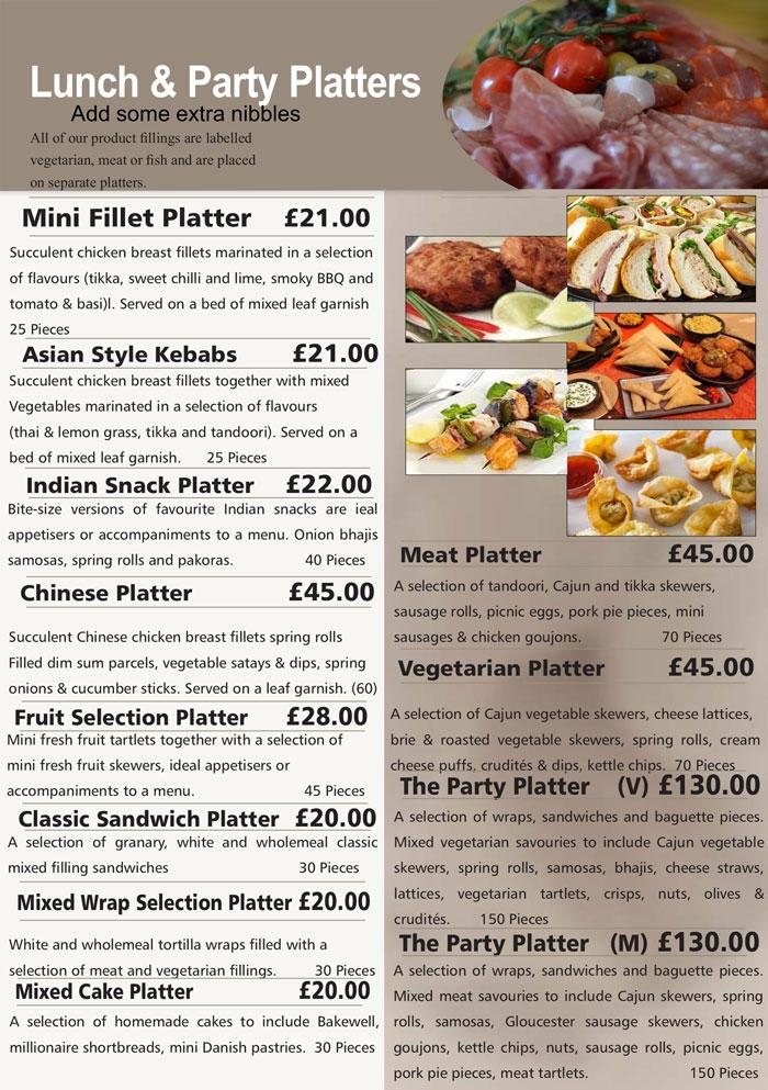 hedleys platter menus